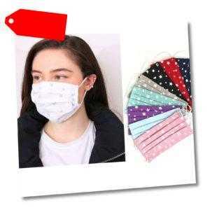 Maske Mundschutz 2-lagig Waschbar 100% Baumwolle Wiederverwendbar - Baumwolle