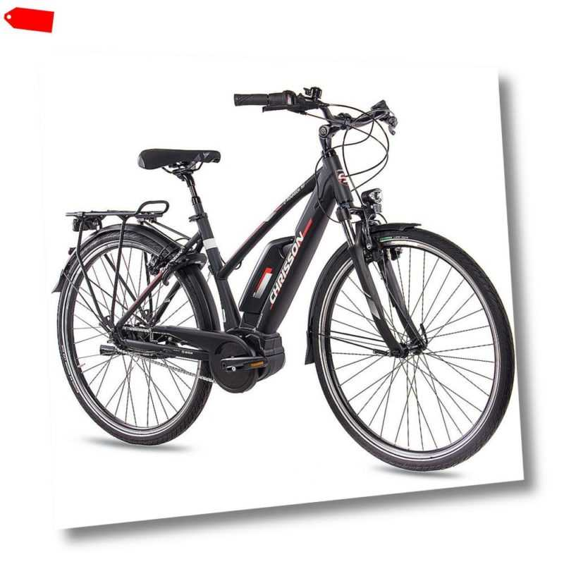 28 Zoll E-BIKE Pedelec Damenrad CHRISSON E-ROUNDER BOSCH Active Line 300Wh TOP