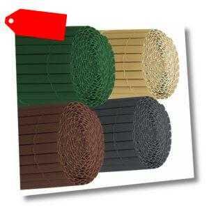 Sichtschutzzaun PVC Sichtschutzmatte Zaun Sichtschutz Balkon Terrasse Windschutz