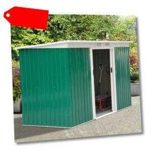 Outsunny Metall Gerätehaus mit Fundament Geräteschuppen Gartenhaus Pultdach