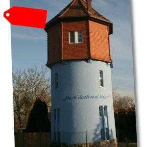 Urlaub im Wasserturm Ferienhaus Garten bei Weimar Naumburg Jena Thüringen Ferien