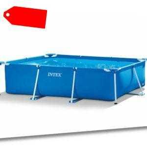 INTEX Family Swimming Pool 260x160x65cm Schwimmbecken Rechteck Stahlrahmen Frame