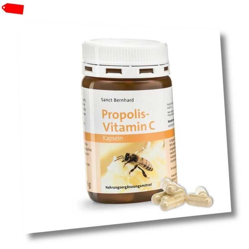 Sanct Bernhard Propolis-Vitamin-C-Kapseln | Inhalt 90 Kapseln | Bienenerzeugnis
