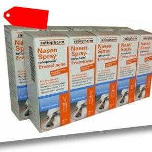 10x NASENSPRAY E Erwachsene Ratiopharm 15ml, PZN 8039020 21,60€/100ml