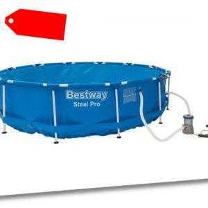 Bestway Metal Frame Pool Ø 366 x 84 Swimmingpool Schwimmbecken B-Ware Vorführer