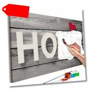 Malset mit Holzrahmen 60x40 Leinwand Erwachsene Gemälde Kit DIY n-A-0548-d-a