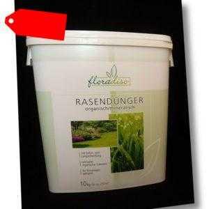 floradiso Rasendünger organisch/mineralisch 10 kg NPK 7+5+5 Stickstoff Kalium