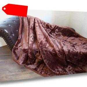 Luxus Tagesdecke Kuscheldecke Wohndecke Decke Plaid dunkel braun