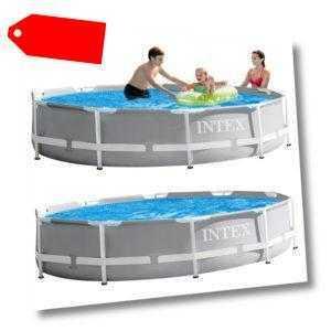 Frame Pool Swimming Pool 366x76cm Schwimmbecken Stahlrohrbecken von INTEX