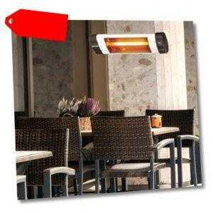 DMS Heizstrahler 2500W Terrassenstrahler Wand Wärmestrahler Infrarotstrahler SE1