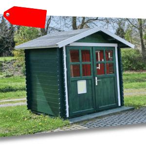 Gartenhaus 28mm 200x200 cm 2x2 m Gerätehaus Schuppen Blockhaus inkl. Fußboden