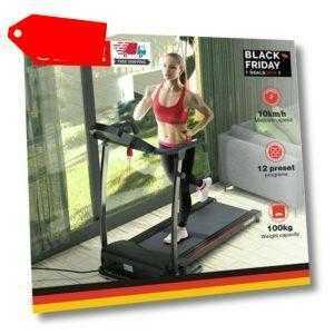 Laufband elektrisch 10 km/h 12 Programme Puls Fitness Heimtrainer 100kg klappbar
