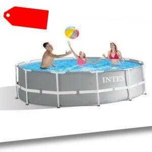 IntexSwimming Pool Ø 366 x 99 cm Frame Pool Set Prism Rondo 26716