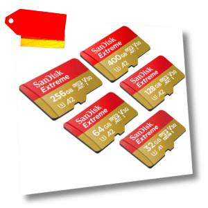 SanDisk Extreme micro SD 32 - 400GB in OVP, für 4K geeignet