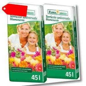 90L (2x45L) Floragard FloraGreen Universalerde Blumenerde Pflanzerde Topferde