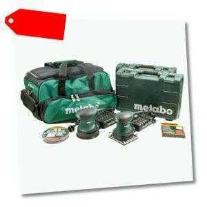 Metabo FSR 200 + FSX 200, Exzenterschleifer & Schwingschleifer im Set mit Tasche