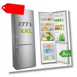 Kühlschrank Kühl-Gefrierkombination KGK 180 A++ Silber 277 Liter...