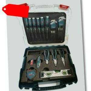 Bosch Professional Profi Koffer Set 40 teilig Schraubendreher, Wasserwaage, uvm.