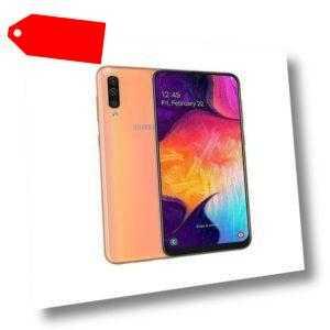 Samsung Galaxy A50 Dual SIM A505F 128GB Coral NEU OVP