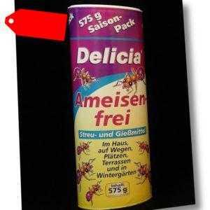 Delicia Ameisen-frei 575g Ameisenköder Ameisenmittel Streu- und Gießmittel Köder