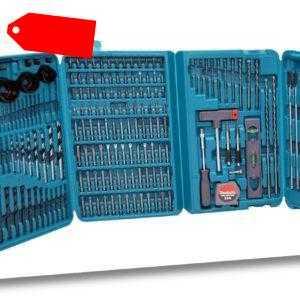 Makita Bit und Bohrer Set 216 tlg. P-44046 Werkzeugkoffer Koffer XXL Zubehör XL