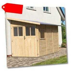 Gartenhaus Gerätehaus Schuppen Geräteschuppen Holz HORI Randers natur 181 x 268