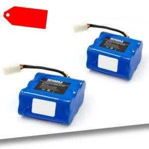 2x Akku 6000mAh Li-Ion für Vorwerk Kobold VR100, 46439, PN46439, SCM61932