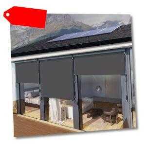 Senkrechtmarkise 1,6 x 2,5 m für Balkon Terrasse, Vertikalmarkise für außen Neu