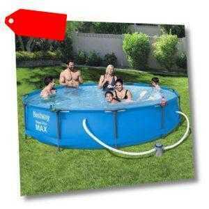 Bestway Swimmingpool Komplettset Rahmen 366x76cm Schwimmbecken Schwimmbad
