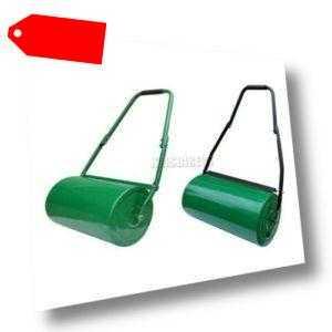 FoxHunter Schwerlast Stahl Garten Gras Rasen Roller Grün Wasser Sand Gefüllt 48L