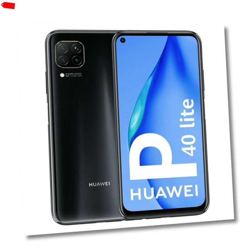 Huawei P40 lite Dual SIM LTE 128GB schwarz, NEU, 6GB RAM, OHNE SIM...