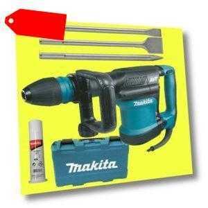 MAKITA Stemmhammer HM0871C SDS Max + Metabo Meißel-Set Classic 3 teilig