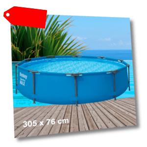 Bestway Pool Swimming Steel Pro MAX™ 305x76cm mit Pumpenanschlüssen (ohne Pumpe)