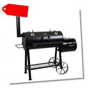 Smoker Longhorn BBQ Grill Grillwagen Räucheroffen Grilltonne B-Ware Barbecue