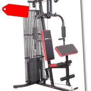 SportPlus Kraftstation Homegym Fitnessstation Multigym Latzugturm inkl. Gewichte