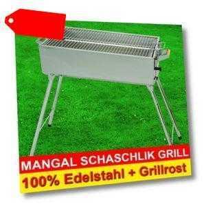 MANGAL Edelstahl MEGA - Schaschlik GRILL + Grillrost GRATIS!!!