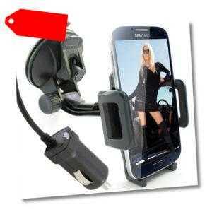 Handyhalterung Auto + KFZ Ladekabel Saugnapf Universal Halter Windschutzscheibe