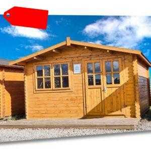 Gartenhaus 28mm 400x400 cm 4x4 m Gerätehaus  Blockhaus ALL IN