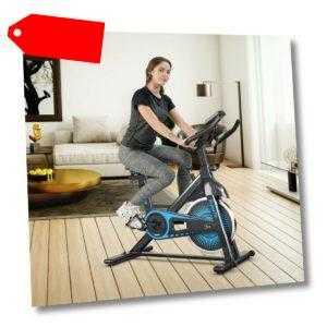 Indoor Fahrrad Heimtrainer Fahrrad mit 6KG Schwungrad Fitnessbike mit Widerstand