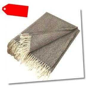 "Wolldecke 140x200cm ""Neuseeland"" 100% Wolle aus Neuseeland Plaid"