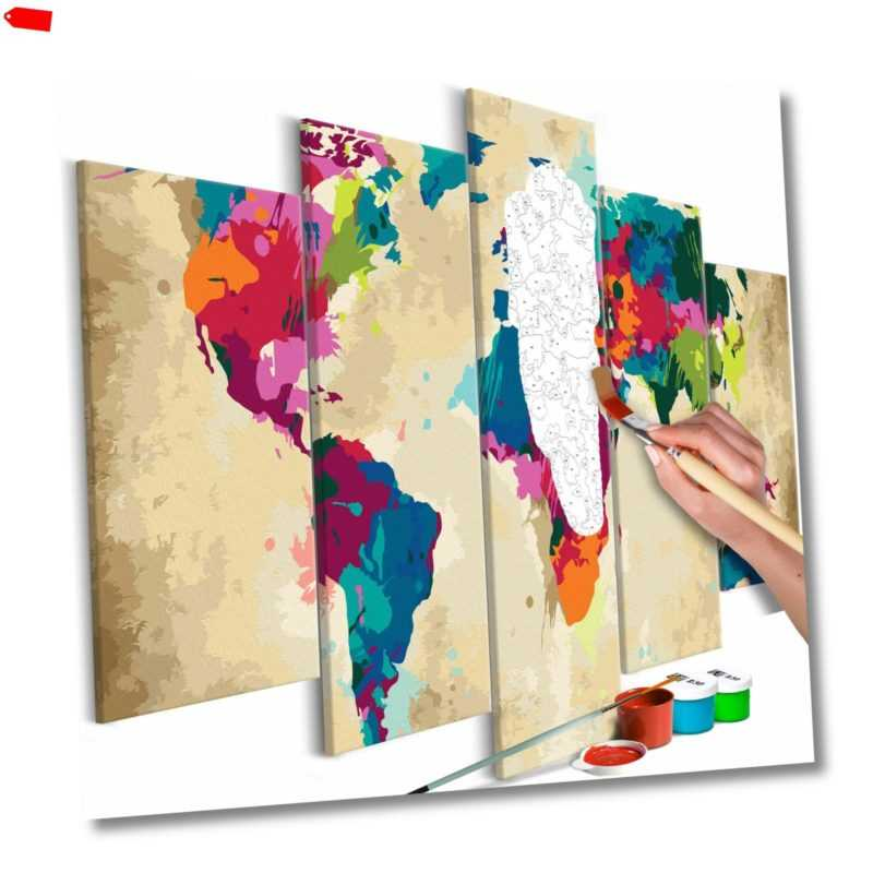 Malset mit Holzrahmen 100x50 Leinwand Erwachsene Gemälde Kit DIY n-A-0231-d-m