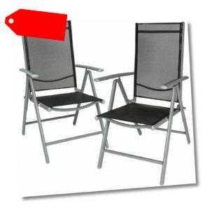 Alu Klappstuhl Gartenstuhl Aluminium Campingstuhl Hochlehner Set Klappbar Stuhl