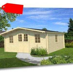 34 mm Gartenhaus 500x500 cm Holz Gerätehaus Blockhaus Schuppen Holzhaus Hütte