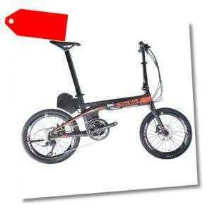 """SAVA Elektrofahrrad Flatrad E8 Carbon 20"""" E-Bike 200W Pedal-Assist 36V/8.7Ah Neu"""