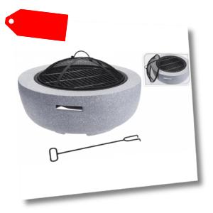 Kamin Gartenkamin Terrassenkamin Schale Feuerschale Anthrazit C150 2.Wahl