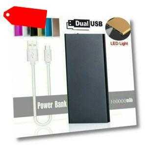 500000mAh 2 USB LED Power Bank Zusatzakku Batterie Ladegeräte für alle Handys DE