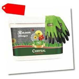 Chrysal Rasendünger Jubiläum 5 kg inkl. Gartenhandschuhe Rasen Dünger für 200 m²