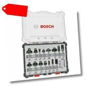 Bosch Freihandfräser-Set. 6-mm-Schaft. 15-teilig