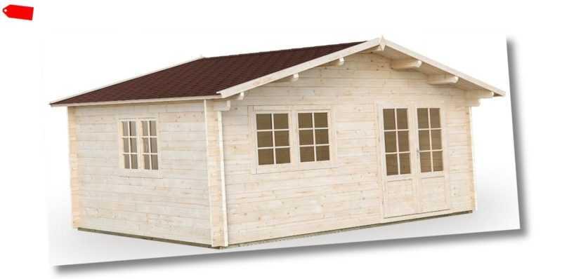 ca. 70 mm Ferienhaus + Fußboden 470x470 cm Gartenhaus Holzhaus Blockhaus Holz