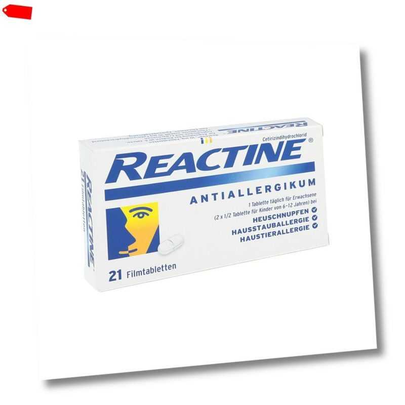 Reactine 21stk PZN 02152240
